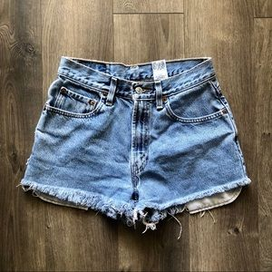 Vintage High Waisted Levi Jean Shorts